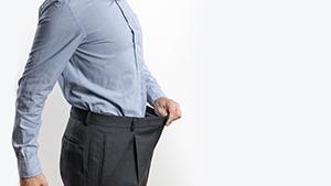 Abnehmen für einen längeren Penis